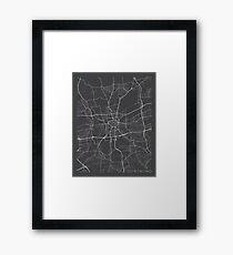 Dortmund Map, Germany - Gray Framed Print