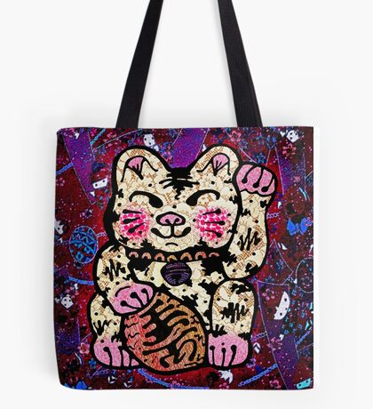 'Shiny Lucky Cat #2' Tote Bag