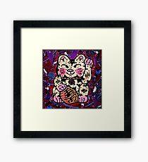 'Shiny Lucky Cat #2' Framed Print
