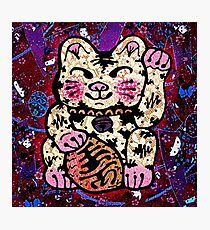 'Shiny Lucky Cat #2' Photographic Print
