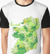 Watercolor Countries - Ireland Graphic T-Shirt