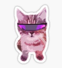 Beach Cat is ready to make waves (Girly) Sticker