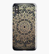 Glimmering Golden Grace Mandala iPhone Case