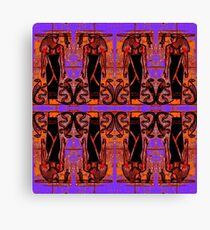 Egyptian Priests and Cobras in Garden II Canvas Print