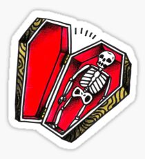 Skeleton Coffin Sticker