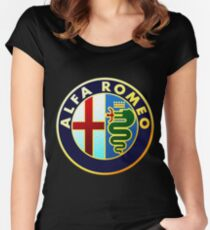 LOGO ALFA ROMEO  Women's Fitted Scoop T-Shirt