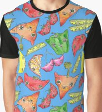 """Oro?"" Fruits & Veggies-Blue Graphic T-Shirt"