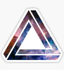 Paradoxical space triangle Sticker