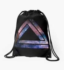 Paradoxical space triangle Drawstring Bag