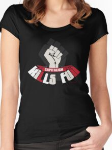Capitalism kills fun funny protest Women's Fitted Scoop T-Shirt