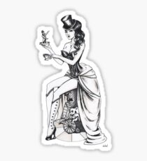 Burlesque circus Sticker