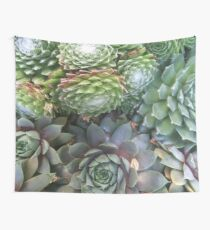 Succulent Table Leeks Wall Tapestry