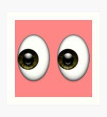 Eyes Emoji Art Print