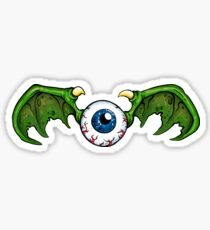 Demon Winged Eyeball Sticker