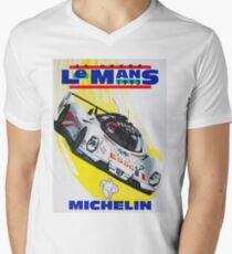 """""""LE MANS"""" Vintage Grand Prix Auto Racing Print Men's V-Neck T-Shirt"""