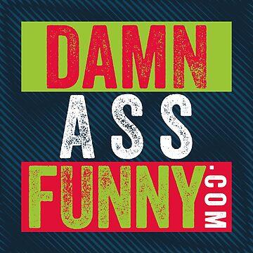 Damn Ass Funny - Blue Moiré by DamnAssFunny
