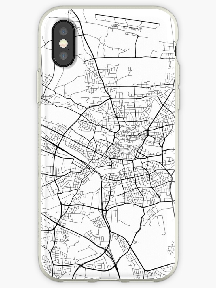 Nürnberg Karte Deutschland.Nürnberg Karte Deutschland Schwarz Und Weiß Iphone Hülle Cover Von Mainstreetmaps
