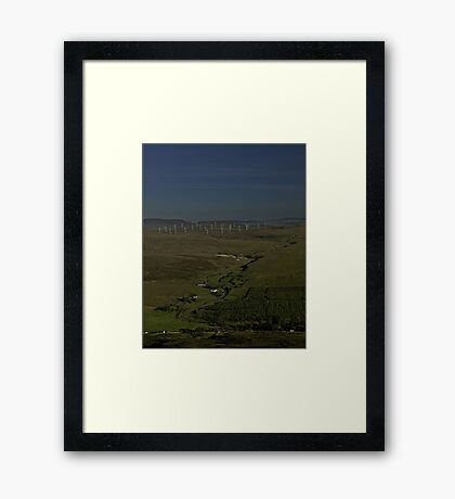 Wind Farms on Inishowen Peninsula Framed Print