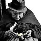 Indigenous Straw Weaver III by Al Bourassa