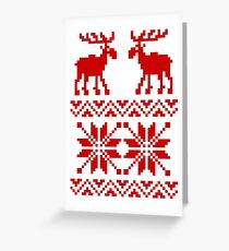 Moose Pattern Christmas Sweater Greeting Card