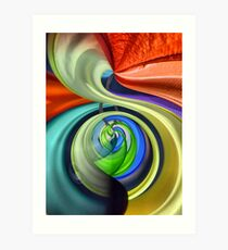 colors in the wind... Art Print