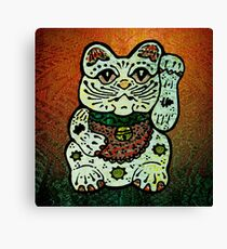 'Shiny Lucky Cat #3' Canvas Print