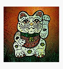 'Shiny Lucky Cat #3' Photographic Print