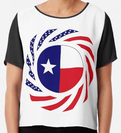 Texan Murican Patriot Flag Series Chiffon Top