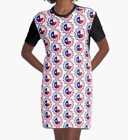 Texan Murican Patriot Flag Series Graphic T-Shirt Dress