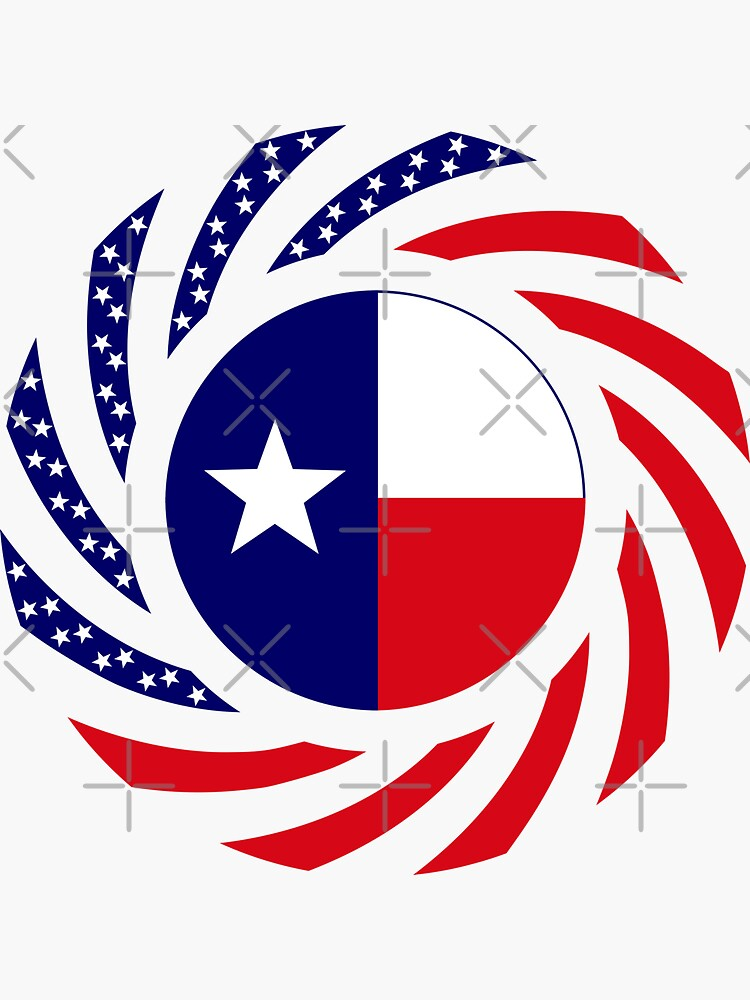 Texan Murican Patriot Flag Series by carbonfibreme