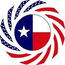 Texan Murican Patriot Flag Series by Carbon-Fibre Media