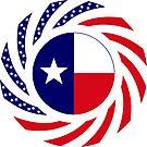 Texan Murican Patriot Flag Series by Carbon-Fibre Media