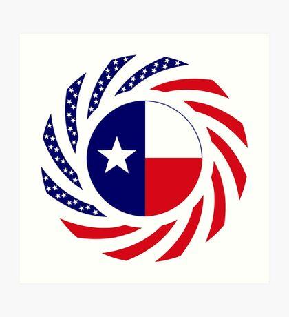 Texan Murican Patriot Flag Series Art Print
