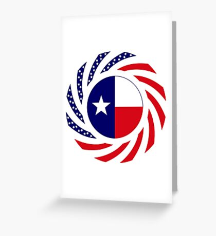 Texan Murican Patriot Flag Series Greeting Card