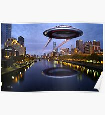 UFO Melbourne Poster