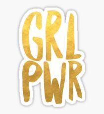 Girl Power Gold Text Sticker