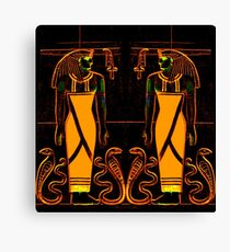 Egyptian Priests and Cobras in Yellow I  Canvas Print