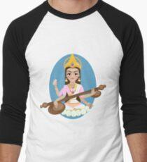 Hindu Goddess Saraswati. Vector hand drawn illustration. T-Shirt
