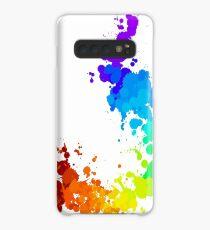 Rainbow Splatter Case/Skin for Samsung Galaxy