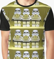 Lego Storm Troopers on Yellow Graphic T-Shirt