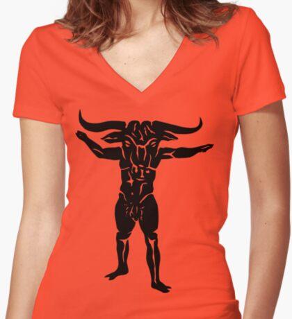 Minotaur Women's Fitted V-Neck T-Shirt