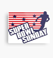 Super Bowl Sunday Metal Print