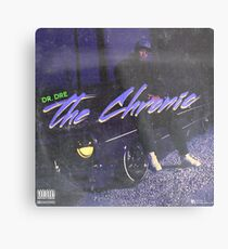 Dr. Dre - The Chronic (fan made album cover) Metal Print