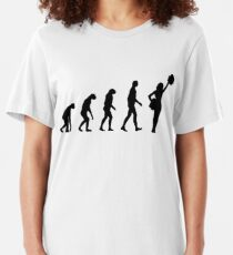 Cheerleading der Evolution Slim Fit T-Shirt