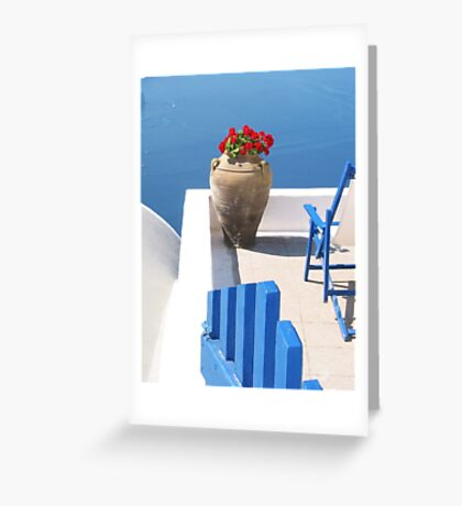 Begonias with a View Greeting Card