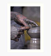 Pottery in Nepal Art Print
