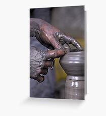 Pottery in Nepal Greeting Card