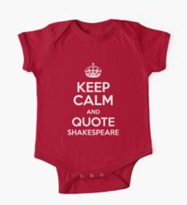Keep Calm & Quote Shakespeare One Piece - Short Sleeve