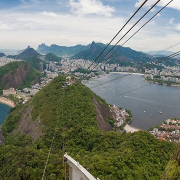 Panorama of Rio de Janeiro from atop Sugarloaf Mountain by cannboys