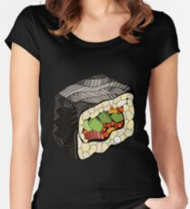 Sushi illustration Women's Fitted Scoop T-Shirt